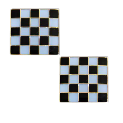 Botão de punho mosaico